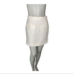 Tiger of Sweden White Textured Mini Skirt 34 (XS)
